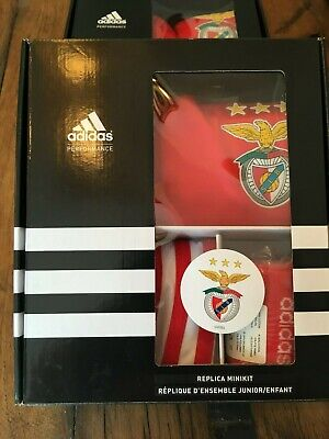 Adidas Performance Kids Replica Mini Kit Benfica Red BNWT UK 3-4 Yrs EU 104