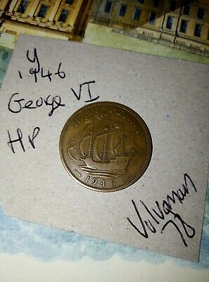 Dated : 1946 - Half Penny - 1/2d - Coin - King George VI - Great Britain