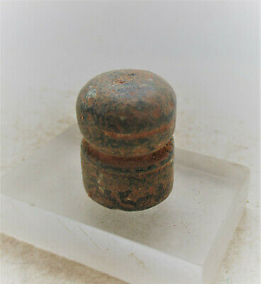 Ancient Roman Or Byzantine Bronze Solidus Weight. Unusual Type