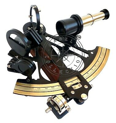 "8"" Brass Powder Coated Captain Sextant Antique Ship Maritime Nautical Astrolabe"