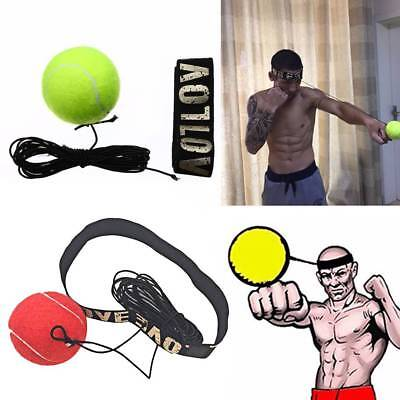 Boxing Fight Reflex Ball Speed Reaction Training Head Band Punch Exercise Kits