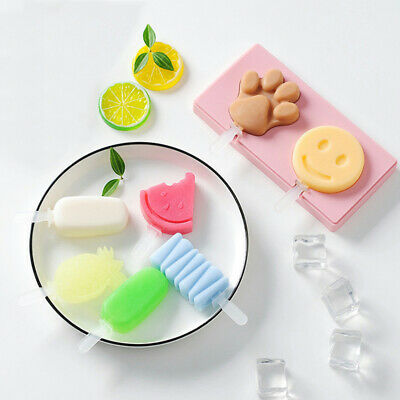 1Pcs Kitchen Summer Ice Cream Silicone Cake Mold Popsicle Maker Bar Ice Moulds