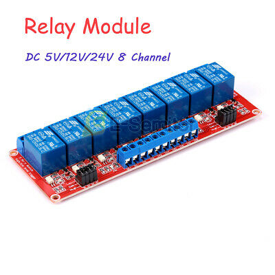DC 5/ 12/ 24V 8 Channel Relay Module with Optocoupler Isolation High/Low Trigger