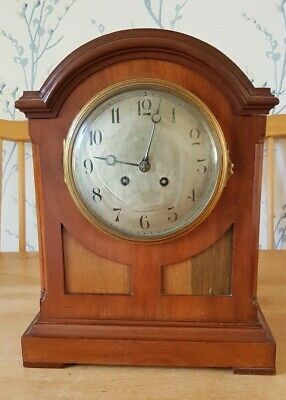 Large Antique Mahogany Mantel / Bracket Clock.