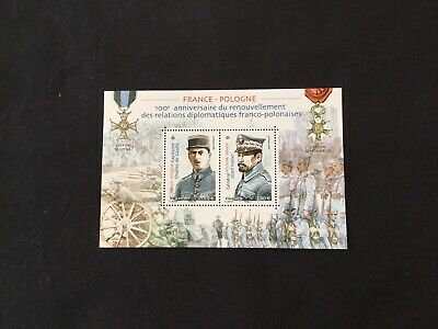 France Bloc Feuillet Timbres Neufs 2019 France/Pologne