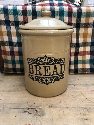 Moira Stoneware Bread Bin -1940's -  Made In England - Height 15 Inches