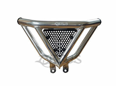 QBRUS PRO N3 Front Bumper Silver with Black Screen for Yamaha YFM700R Quad Bike