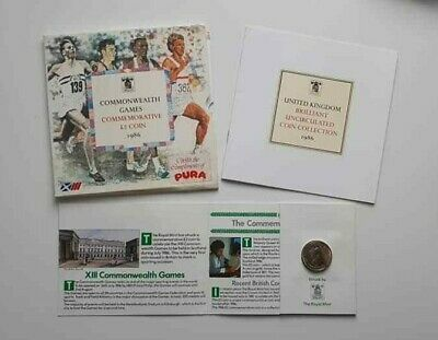1986 Commonwealth Games Commemorative £2 Coin ~ Collectable ~