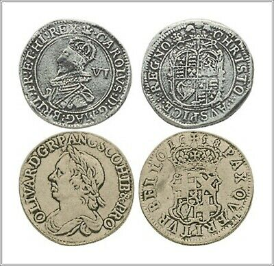 OLIVER CROMWELL & CHARLES 1st Novelty Souvenir Coin SET OF TWO