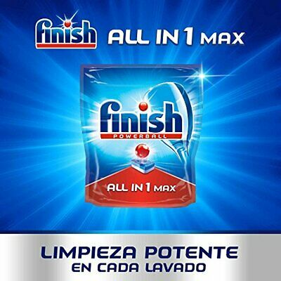 Finish Todo en 1 Max Regular Pastillas para Lavav(110 pastillas Regular)