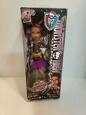 Monster High Frights Camera Action! Black Carpet Clawdeen Wolf Doll ~NEW~