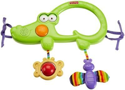 FISHER PRICE LUV U ZOO 2 IN 1 TUMMY TIMER MUSICAL Baby Mirror Rattle Crib Toy
