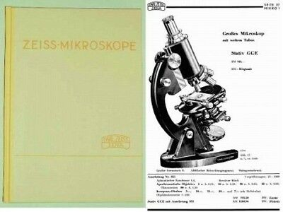 microscope book CARL ZEISS 1934    +++ many pictures +++ before WW2