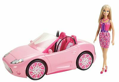 Mattel Barbie Glam Convertible and Doll Set - New 2012 Version