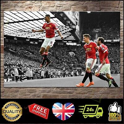 Marcus Rashford Man Utd MANCHESTER UNITED Canvas Print Wall Art Poster ~ 5 Sizes