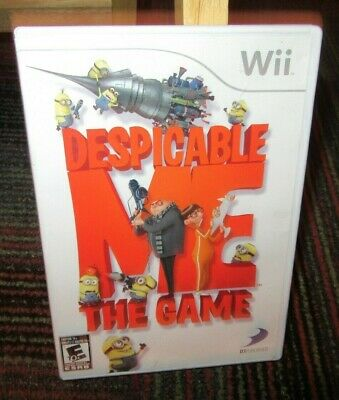 DESPICABLE ME THE GAME FOR NINTENDO Wii, GAME DISC, CASE, MANUAL, MINIONS, GRU