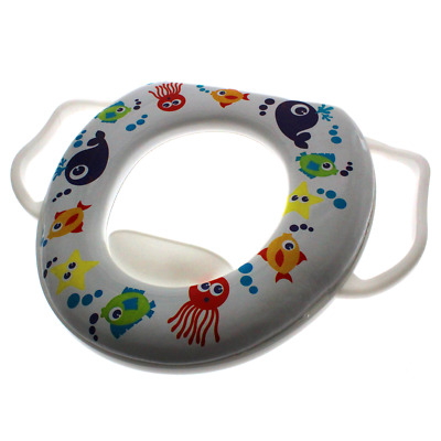 Baby Child Toddler Padded Potty Toilet Training Seat with Handles WC Easy Clean