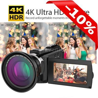WiFi 4K Ultra HD 48MP  Touchscreen Digital Video Camcorder Camera DV + Dual Lens