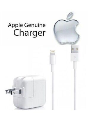 Genuine Apple iPad Mini Air iPhone X 5 6 7S 8 12W USB Wall Charger & 8 Pin Cable