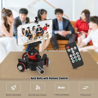 Remote Motorized Pulley Car Dolly Rolling Rail Slider for Cell Phone DSLR Camera