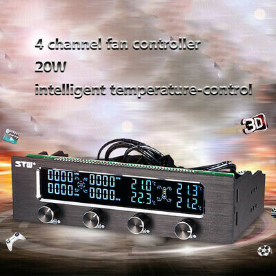 Sunshine-tipway STW Multi-Function PC CPU 4 Channel Fan Controller Speed Q4I6