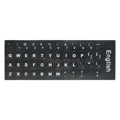 White Letters Non-transparent English Standard Keyboard Sticker Durable X3S3