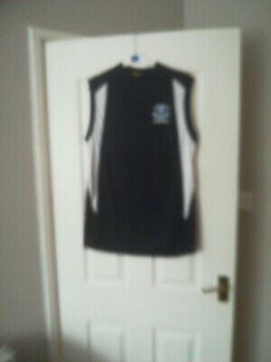 Official EVERTON FC Poly Training Vest Football Poly T Shirt Gym size. M