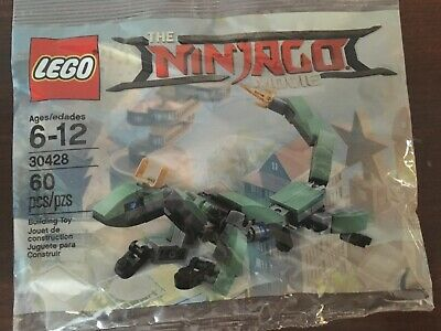New!  Sealed. LEGO 30428 The LEGO Ninjago Movie Green Ninja Mech Dragon Polybag
