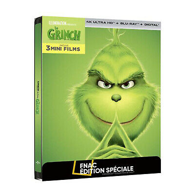[Blu-ray] THE GRINCH (Steelbook Fnac 4K, comme neuf/like new) Illumination