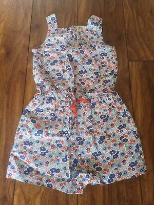 Little girls Mini Boden Summer ditsy floral playsuit shorts age 7-8 years
