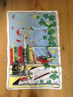LAMONT Vintage Pure Linen T Towel, Wall Art NEW Unused Condition Retro Kitch