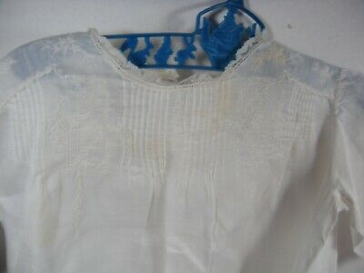 """Victorian Antique Child's Christening dress White Edwardian Embroidered doll 24"""""""