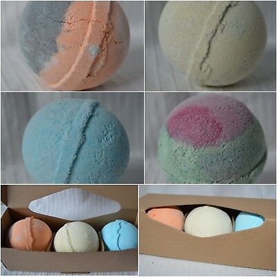 3 Jumbo Shea Butter Bath Bombs Gift Boxed Set large big fizzers box pack of box