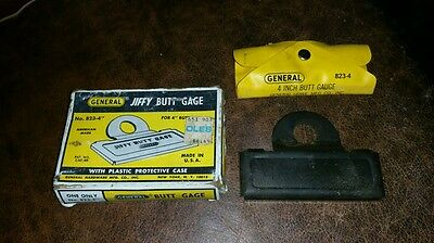 "Vintage GENERAL HARDWARE No.824-4"" Butt Gage in Original Box FREE SHIPPING"