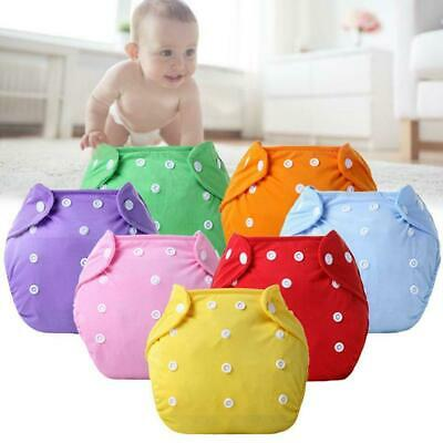 Baby Diapers Washable Reusable Nappies Grid Cotton Training Pant Cloth Soft U2I4