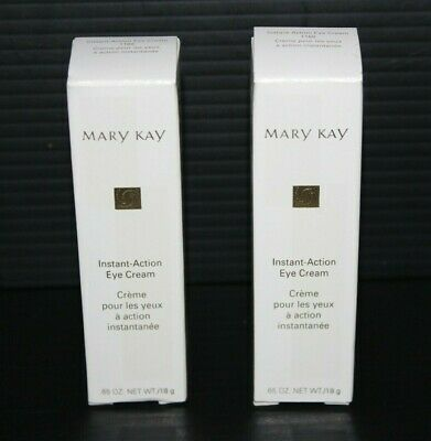 Lot of 2 Mary Kay Instant Action Eye Cream 1168 NEW in Boxes DISCONTINUED .65 oz