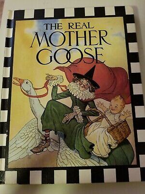 Vintage THE REAL MOTHER GOOSE Nursery Rhymes Children's BOOK Hard Copy 1974