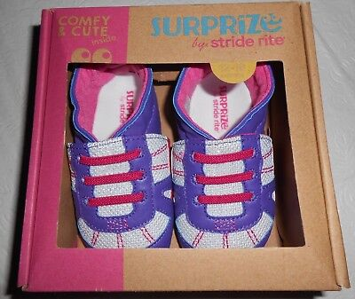 a35164e7d Surprize By Stride Rite Mack Purple/Pink/White Sneaker Baby Shoes- L(