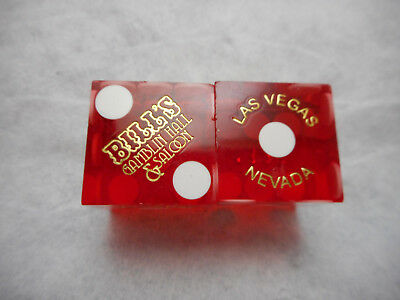 Clear Red Mixed #s Pair of ARIA LV Casino Dice
