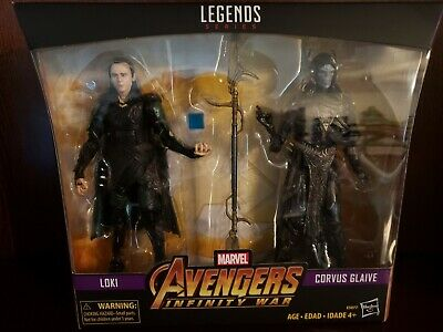 MARVEL LEGENDS AVENGERS INFINITY WAR ENDGAME LOKI & CORVUS GLAIVE Figures 2-PACK