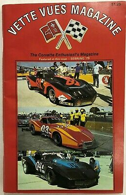 """VETTE VUES MAGAZINE(VOL. 7,No.11,MAY. 1979)162 PAGES,FEATURING SEBRING """"79"""" BIN"""