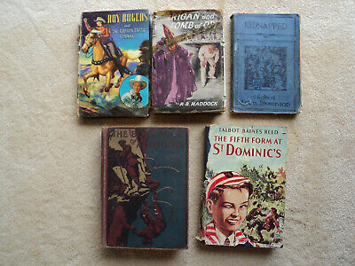 5 X VINTAGE BOOKS - Boys Adventure Horrigan Kidnapped Roy Rodgers ++ SEE LISTING