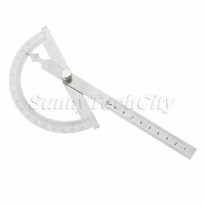 Stainless Steel Hollow Scale Protractor Rotary 180 Degree Angle Finder Rulers