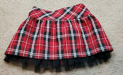 Girls Toffee Apple Skirt Plaid Red Size 3T