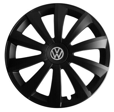 4x14'' Wheel trims fit VW Volkswagen Polo Golf Fox Lupo - 14'' brand new black