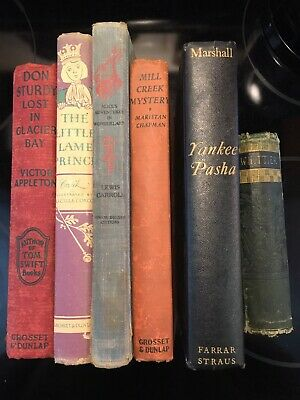 Lot of 6 Vintage Old Rare Antique Hardcover Books-Mixed Color-Random /1884-1948