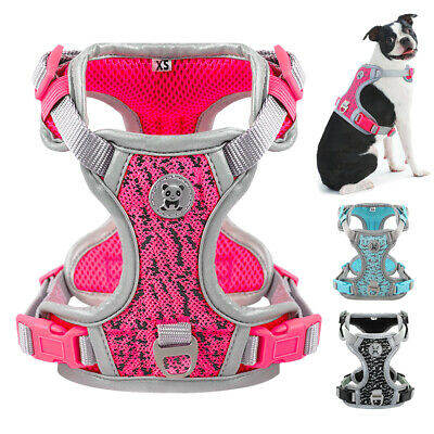 Small Large Dog Harness No Pull Reflective Adjustable Padded Vest Labrador S M L