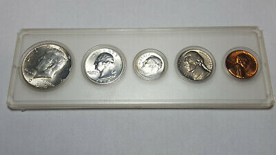 1964 Special Mint Set Five US Mint Proof Coins - SILVER not Clad