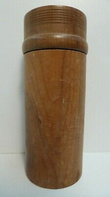 Timber Hand Made Canister Wooden Craftsman Turned Lidded Case By Peter Hodge