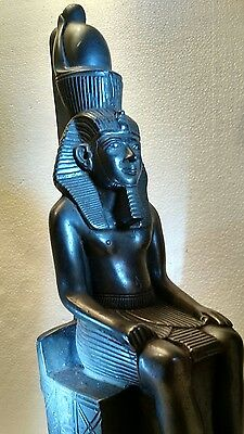 Ancient Egyptian Pharaoh Ramses II Seated